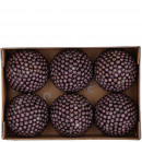 Ball berry 6 pieces per box, D8cm, purple
